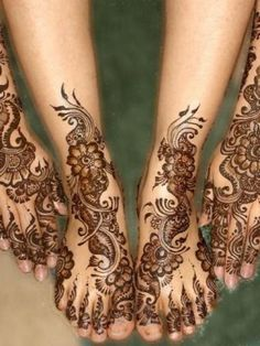 Latest Hands & Feet Mehndi Design Eid Special For Girls 2013