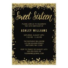 198 best sweet 16 birthday invitations images on pinterest in 2018
