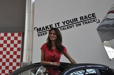 Catrinel Menghia @ Abarth by teamabarth, via Flickr Catrinel Menghia, Fiat Cars, Fiat Abarth, Ad Art, Fiat 500, Gentleman, Racing, Red Background, Scorpion