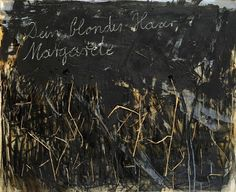 View DEIN BLONDES HAAR, MARGARETE By Anselm Kiefer; Acrylic, shellac, emulsion and straw on canvas; 118 x 145 cm x 57 in. Access more artwork lots and estimated & realized auction prices on MutualArt. Anselm Kiefer, Neo Expressionism, John Singer Sargent, Funny Animal Quotes, Edward Hopper, Equine Art, Wassily Kandinsky, Pencil Portrait, Abstract Landscape