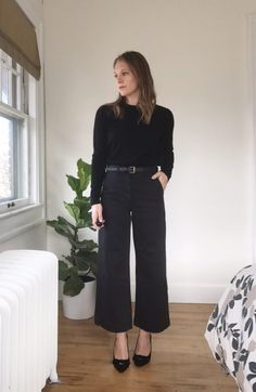 how to style cropped wide leg pants | Lindsey Kubly