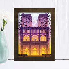 Shadow Light Box, Shadow Box Frames, 3d Paper, Paper Gifts, Paper Box Template, Paper Light, Color Effect, New Year Gifts, Floating Frame