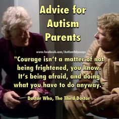 Relevant Doctor Who quote for autism parents