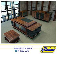 Executive Office Desk, Office Desks, Shop Counter Design, Office Table Design, 1970s Decor, Home Office Furniture, Industrial Furniture, Modern Luxury, Marketing Digital