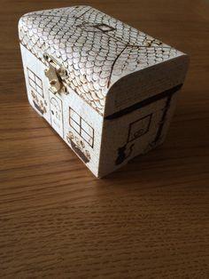 Trinket box small wooden box decorated wood box by RockeryCottage
