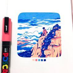 ☁️ on Uni Posca markers create such vibrant colors!Uni Posca markers create such vibrant colors! Marker Kunst, Marker Art, Pen Art, Kunst Inspo, Art Inspo, Art And Illustration, Medical Illustration, Art Illustrations, Pretty Art