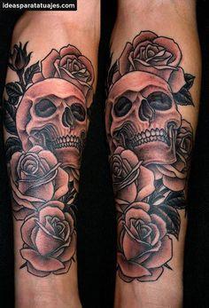 tatuajes de calaveras para mujeres en el brazo - Buscar con Google