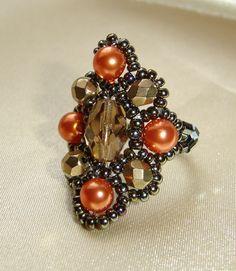 beaded ring by Melinda