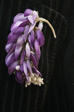 Wisteria blossom 染色花飾品~胸花 | Flickr - Photo Sharing! #millinery #judithm #hats