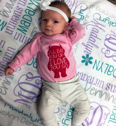 Personalized Baby Girl Blanket  Monogrammed by TheDreamyDaisy