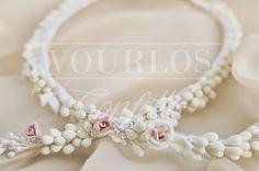 Στέφανα | VOURLOS CONFETTI | Γάμος & Βάπτιση | Μπομπονιέρες - Προσκλητήρια - Κουφέτα Wedding Crowns, Pearl Necklace, Pearls, Jewelry, Jewellery Making, String Of Pearls, Jewels, Beads, Jewlery