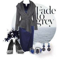 """""""#113: Grey and Blue"""" by eiluned on Polyvore"""