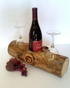 Diy Wooden Projects, Woodworking Projects Diy, Wood Crafts, Woodworking Inspiration, Teds Woodworking, Wine Glass Rack, Wood Wine Racks, Rustic Furniture, Diy Furniture