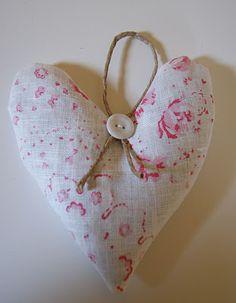 antique fabric heart