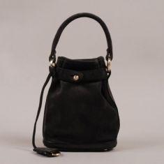 Opening Ceremony Pop-Up Handbag - Anthracite Suede Black