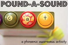 Pound-a-Sound Phonemic Awareness Activities, Alphabet Activities, Literacy Activities, Activities For Kids, Phonological Awareness, Preschool Alphabet, Number Activities, Literacy Stations, Preschool Themes