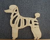 Poodle Wood Puzzle Cut On Scroll Saw