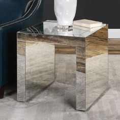 Uttermost Nora Mirrored Accent Table - 24709