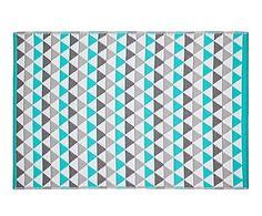 Alfombra de fibra sintética Mindi, azul y gris - 120x180 cm
