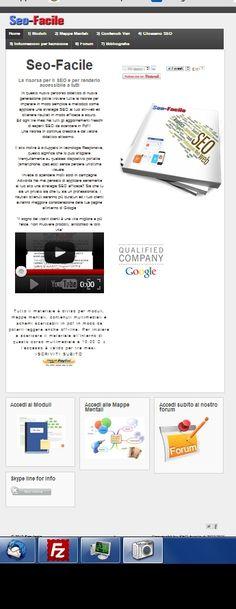 Homepage piattaforma didattica SEO-Facile.it da qui potete accedere a tutti i contenuti