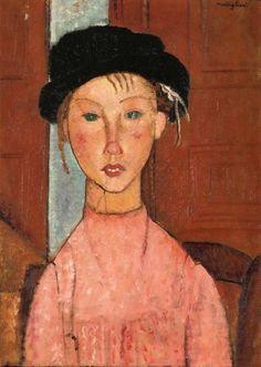 Amedeo Modigliani (1884-1920)  Jeune fille au béret