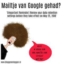Uh-oh! Moet je wat met dat mailtje van Google? - Bloggen en loggen