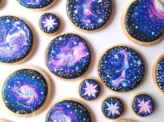 Learn how to decorate galaxy cookies with royal icing in this tutorial by SweetAmbs!