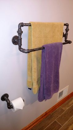 Double pipe bath towel bar