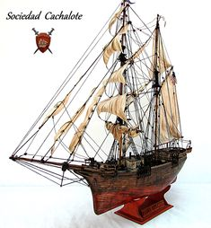 """Mary Celeste"" Mary Celeste, Model Ships, Sailing Ships, Knots, Boat, Vehicles, Boats, We, Car"