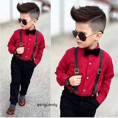 Men& suit pants + shirt + strap + bowtie years old Toddler Dress Clothes, Stylish Baby Clothes, Baby Clothes Online, Stylish Boys, Toddler Boy Fashion, Little Boy Fashion, Toddler Boy Outfits, Toddler Wedding Outfit Boy, Outfits Niños