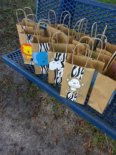 Safari Party goody bags- I could do these with a different theme...