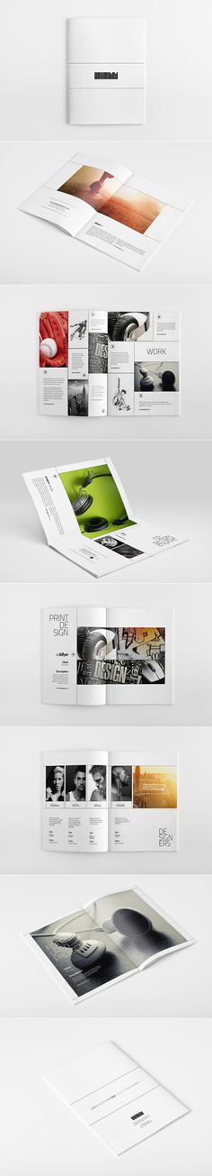 Unlimited Portfolio Brochure by via Behance / layout / inspiration / design / grid Layout Design, Graphisches Design, Buch Design, Graphic Design Layouts, Print Layout, Graphic Design Typography, Typography Images, Print Design, Modern Design