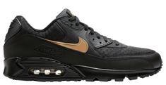NIKE AIR MAX 90 V7894 001 MEN'S BlackGold | Essential Shoes c1 | eBay
