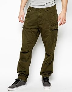 G Star Cargo Trousers Rovic Loose Tapered