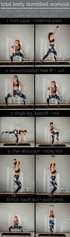 total body dumbbell workout pin -- alala style -- http://www.nourishmovelove.com