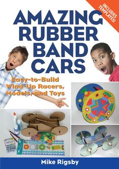 Combining fun and interactive activities, this guide will have kids captivated for hours constructing fantastic racing cars with the basics of only rubber bands, cardboard, and glue. These simple instructions with templates allow budding engineers to gain hands-on experience as they learn not only how to build a basic racer, but how to make modifications such as aluminum foil axle bearings, steering mechanisms, hinges, cam shafts, and wheels made out of old CDs.