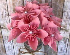 Paper Flower Arrangement - Paper Flower Centerpiece - Get Well Flowers - Anniversary Flowers - Birthday Flowers - Reception Flowers