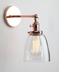 Buyee® Modern Vintage Industrial Metal Head Glass shade Loft Wall Light Scone Wall Lamp (copper head) Buyee http://www.amazon.co.uk/dp/B016HVWARG/ref=cm_sw_r_pi_dp_SMovwb19QJSRC