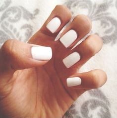plain white manicure
