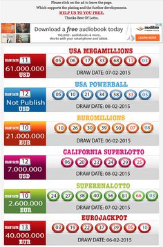New Result available 2015.02.08 http://www.bestoflotto.com/lottery-results.html