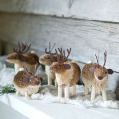 Reindeer Herd Ornament Set in HOLIDAY TRIM THE TREE Ornaments Woodland at Terrain