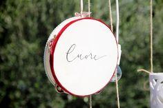 Never forget to follow your heart! From one of our recent weddings  Custom Made tambourines. Photo credit @lafides #tambourines #destinationweddings #weddingdecor #weddingdesign #italywedding