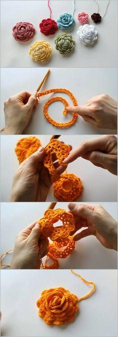 Crochet Rose – Crocheted World