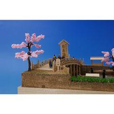 Miniature Diorama Landscape Cherry Blossom Trees And Bridge Etsy Japanese Landscape Blossom Trees Cherry Blossom Tree