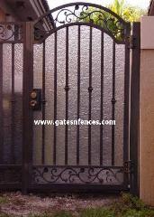 Simply Elegant Walk thru Gate Tall Walk Through Gate Wide Walk Thru Wrought Iron Gate Designs, Wrought Iron Garden Gates, Metal Gates, Backyard Gates, Gate Decoration, Custom Gates, Metal Clock, Fence Gate, Yard Ideas