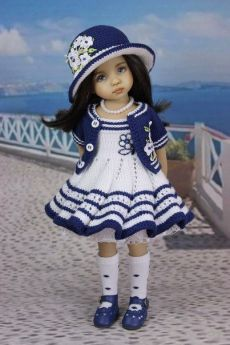 Knitting Dolls Clothes, Crochet Doll Clothes, Knitted Dolls, Doll Clothes Patterns, Girl Doll Clothes, Barbie Clothes, Girl Dolls, Barbie Dolls, American Girl Outfits