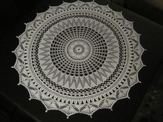 Between Meals Centerpiece Doily. Vintage pattern from 1917.