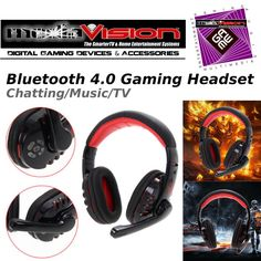 MediaVision GAME Bluetooth 4.0 Stereo Headset -Wireless-phone/devices  #MediaVisionGAME