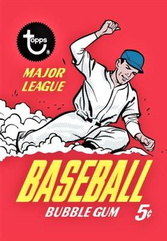 Topps adds vintage baseball card wrappers to its wall art offerings - Beckett News Baseball Posters, Baseball Art, Baseball Stuff, Baseball Card Packs, Thing 1, Canvas Paper, Poster On, Vintage Advertisements, Vintage Posters
