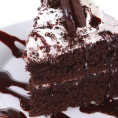 Chocolate Drizzled Chocolate Layer Cake Recipe